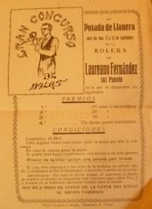 Casa Laureano cartel bolos